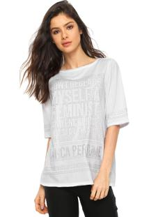 Camiseta Lança Perfume Strass Branca