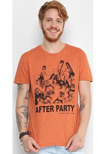 Camiseta Triton Estampada After Party Masculina - Masculino-Laranja Claro