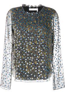 See By Chloé Floral Print Blouse - Azul