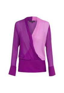 Blusa Feminina Bicolor Melissa 2 - Roxo