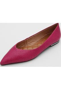 Sapatilha Couro Loucos E Santos Textura Pink
