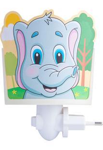 Mini Abajur Elefante - Startec - Branco / Colorido