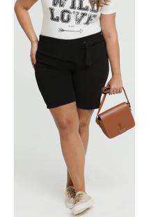 Bermuda Feminina Textura Plus Size