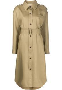 Alexander Wang Trench Coat Com Cinto E Abotoamento Simples - Neutro
