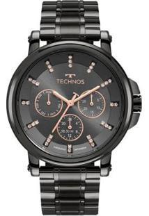 Relógio Technos Trend 6P29Akx/4C Feminino - Feminino-Preto