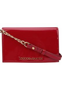 Bolsa Loucos & Santos Mini Bag Verniz Soft Feminina - Feminino-Vermelho