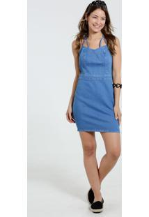e424359500 ... Vestido Feminino Jeans Justo Tachas Marisa