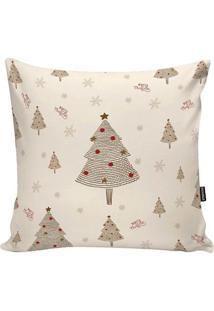 Capa De Almofada Arvore De Natal- Off White & Bege Escurstm Home