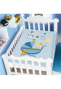 Cobertor Infantil Jolitex Raschel Carrinho De Bebe Azul Masculino - Kanui