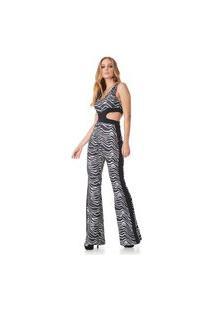 Vestido Sly Wear Longo Zebra