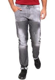 Calça Jeans Storm Slim Marina Cinza