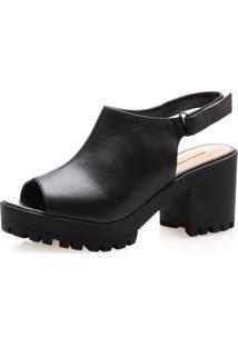Sandália Feminina Corello Sandal Boot Couro Atanado Corello Sandália Preto