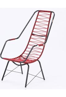 Cadeira Fio Trançado Plus Fabone - 840 Vermelho