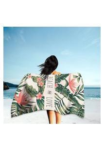 Toalha De Praia / Banho Beach And Love Único