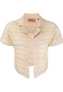 Missoni Mare Knitted Crinkle Cardigan - Dourado
