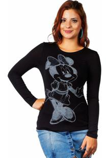 Blusa Estampada Preto Disney
