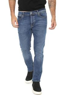 Calça Jeans Jack & Jones Slim Bolsos Azul