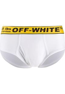 Off-White Calcinha Com Logo No Cós - Branco