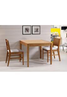 Conjunto Salvador 2 Cadeiras Estofadas Eucalipto Cor Verniz Jatoba 90 Cm (Larg) - 45905 Sun House