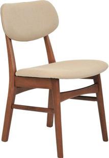 Cadeira Com Encosto Estofado Erica -Rivatti - Bege
