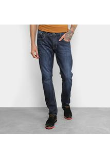 Calça Jeans Slim Forum Paul Estonada Masculina - Masculino-Jeans