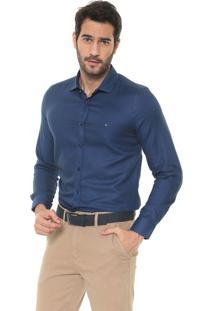 Camisa Aramis Slim Padronagem Azul