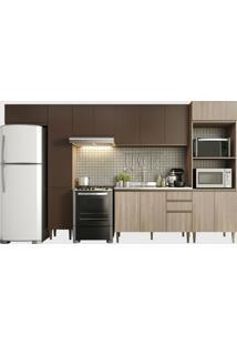 Cozinha 6 Peã§As Aveiro/Oxid Be Mobiliã¡Rio Marrom/Bege - Marrom - Dafiti