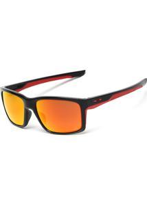 Óculos De Sol Oakley Mainlink Prizm Preto/Vermelho