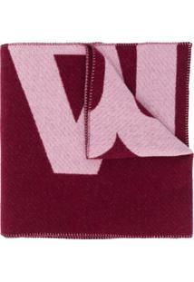 Isabel Marant Cachecol De Tricô Com Estampa De Logo - Rosa