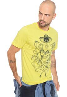 Camiseta Cavalera Caveira Amarela