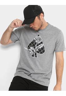 Camiseta Mcd Wire Fence Masculina - Masculino-Mescla