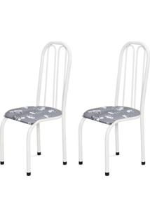 Cadeira Assento Anatomico 2 Peças 00112 Branco Cinza Claro Archeli