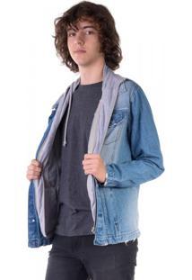 Jaqueta Jeans Com Moletom Removível