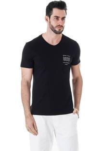 Camiseta Masculina Km - Preto