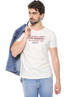 Camiseta Opera Rock Lettering Off-White