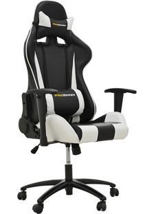 Cadeira Office Pro Gamer V2 Preta E Branco Rivatti Móveis