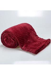 Cobertor Casal 1,80X2,20M Canelado Vinho