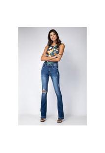 Calça Boot Cut Hera Lança Perfume Jeans Azul