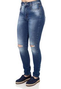 cbf9c6dbe Lojas Pompeia. Calça Jeans Feminina Sawary Azul