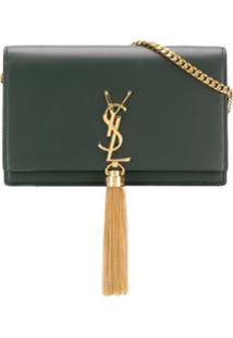 Saint Laurent Bolsa Carteira Kate' Com Tassel - Verde