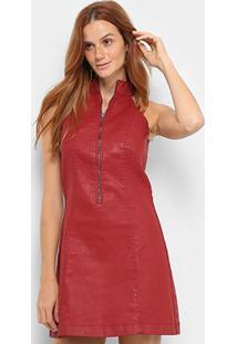 a17d3c8b6 ... Vestido Morena Rosa Curto Tubinho Detalhe Zíper - Feminino-Vermelho