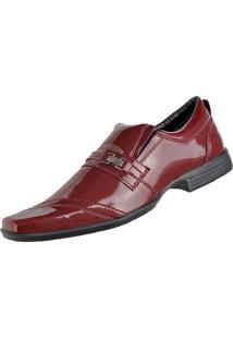 Sapato Social Cr Shoes Fashion Fino Vermelho