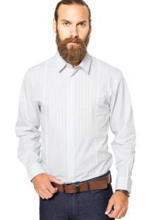 Camisa Perry Ellis Reta Xadrez Verde/Branco