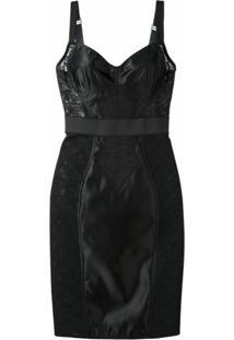 Dolce & Gabbana Vestido Com Recorte Em Renda - Preto