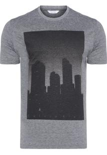 Camiseta Masculina Slim City - Cinza
