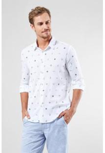 Camisa Reserva Pf Manga Longa Nautica Masculina - Masculino-Branco