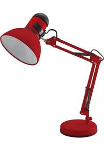 Luminária De Mesa Articulada Empire B Startec Vermelho