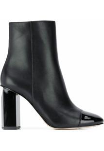 Michael Michael Kors Ankle Boot Bico Fino Envernizada - Preto