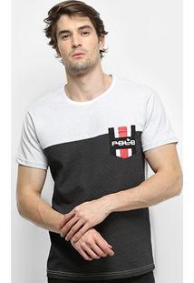 Camiseta Polo Rg 518 Poá Bolso Masculina - Masculino-Branco