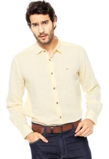 Camisa Aramis Slim Amarela